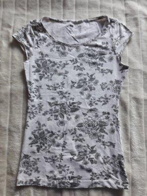 Weißes Shirt mit Blumenprint