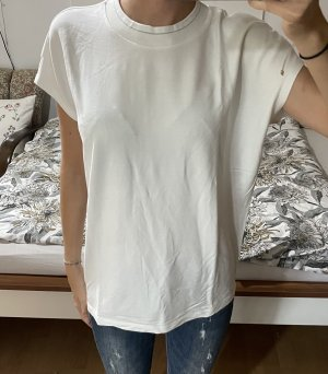 Opus T-Shirt white-silver-colored