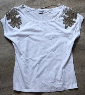 BSB Collection Shirt basique blanc-argenté