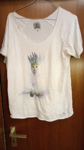 Weißes Shirt mit Katzenprint von Element Advocates