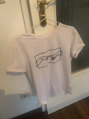 Weißes Shirt mit Print