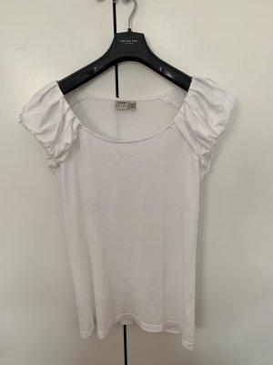 Weißes Shirt mit Puffärmeln