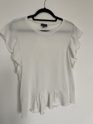 Reserved Top met franjes wolwit-wit