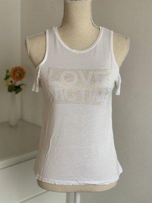 Weißes Shirt mit Schulter Cutouts