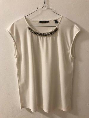 Weißes Shirt mit Steinchen/Pailletten