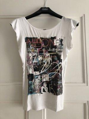 """Weißes Shirt mit tollem Aufdruck von """"Mango"""", XS"""