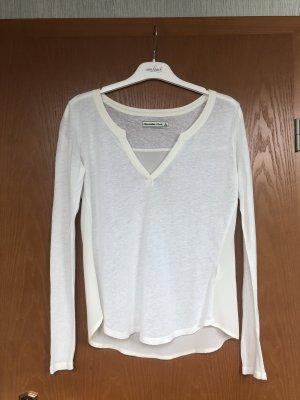 Weißes Shirt mit V Ausschnitt S von A&F