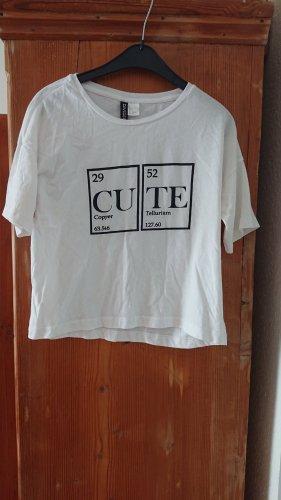 weißes Shirt von H&M Gr.36