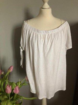 H&M Boatneck Shirt white cotton