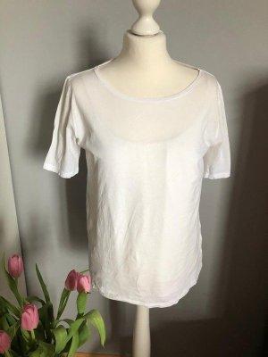Weißes Shirt von Hallhuber, Gr. XL