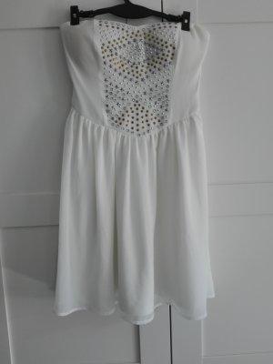 Tally Weijl Sukienka gorsetowa biały