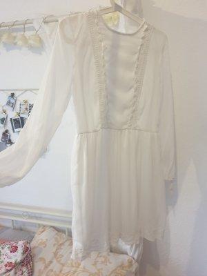 weißes Sommerkleid Chiffonkleid