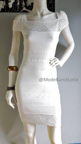 Weißes Sommerkleid// Cut-Out-Kleid// Brautkleid// Strickkleid mit Häkelspitze >>>>>>>>20% OFF AUF KLEIDER IM JULI<<<<<<<<<