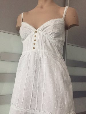 AG Jeans Vestido tipo overol blanco