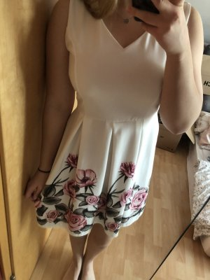 Robe d'été blanc-rose