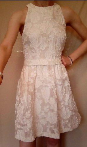 weißes Sommerkleid mit Blumenmuster, Gr.38