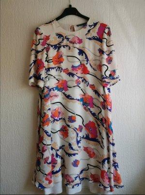 Weißes Sommerkleid mit Blumenprint / EMILIO PUCCI / Designerkleid / Minikleid / 36