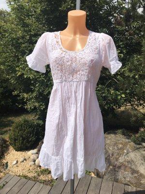 Laura Scott Vestido de encaje blanco Algodón
