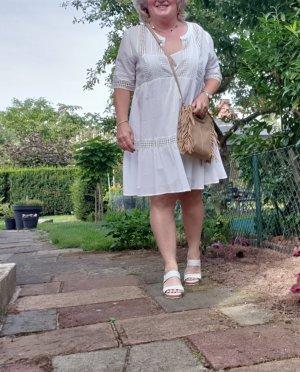 weißes Sommerkleid mit Unterkleid Gr.44