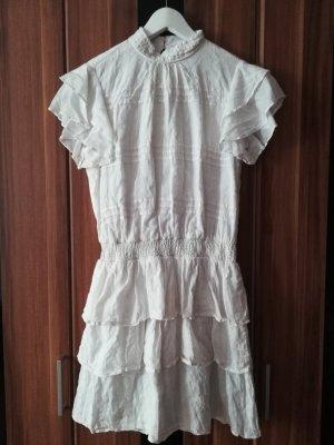 Weißes Sommerkleid mit Volants von Vero Moda, Größe S