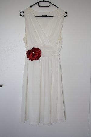 weißes Sommerkleid von Noppies Gr. XL mit Rose