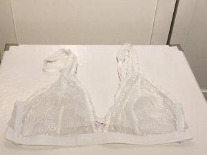 Weißes Spitzen-Bustier von H&M in Größe 38 (M)