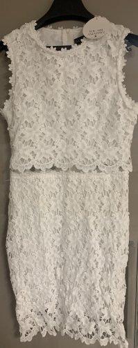 Weißes Spitzen Kleid