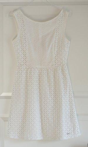 Weißes Spitzen-Minikleid in Größe XS