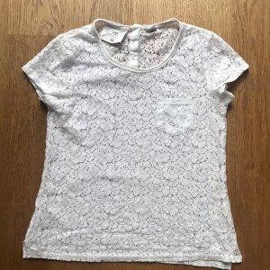 Weißes Spitzen Shirt von H&M Größe 36