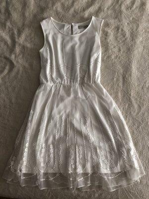 Anmol Kanten jurk wit