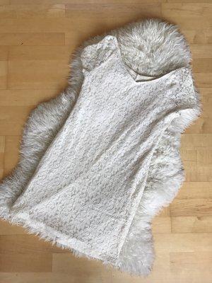 Topshop Robe en dentelle blanc