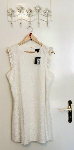 Atmosphere Robe en dentelle blanc coton