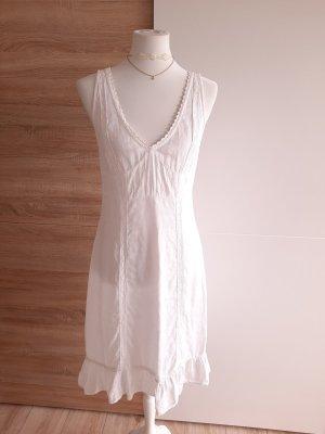 Kookai Koronkowa sukienka biały Len