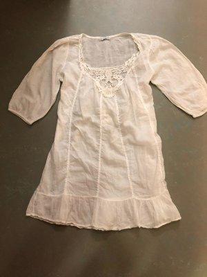 Montan Koronkowa sukienka biały Bawełna