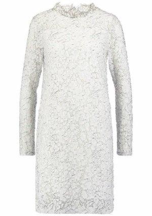 Minimum Robe en dentelle noir-blanc coton