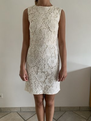 Weißes Spitzenkleid von Zara in M