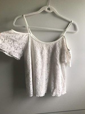 Weißes spitzenshirt