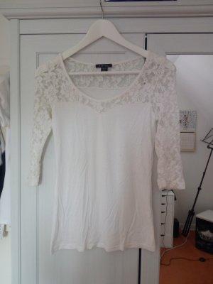 weißes Spitzenshirt von Amisu