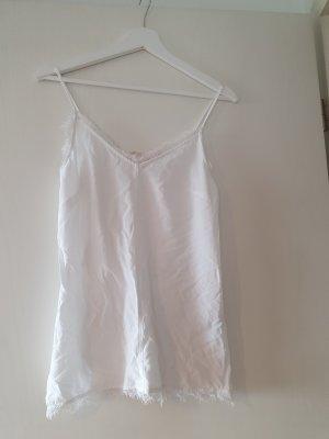 LOGG Top di merletto bianco sporco