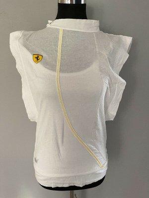 Weißes Sportshirt / T-Shirt von Puma, Gr. 36 / Ferrari