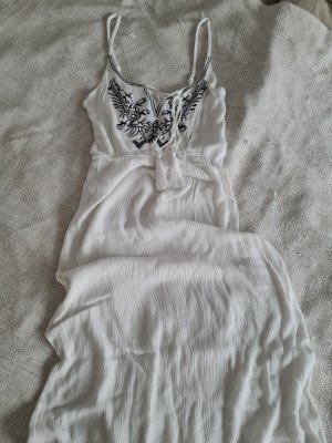 Tenue de plage blanc tissu mixte