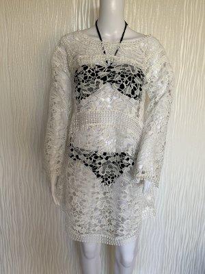 Weißes Strandkleid aus Spitze von Hunkemöller Doutzen