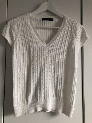 Weißes Strickshirt