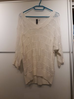 weißes Strickshirt (Sommer)
