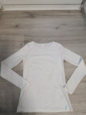 Weißes Sweatshirt langärmlich
