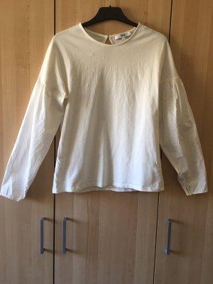 Weißes Sweatshirt/ leichter Pullover in Größe M/38