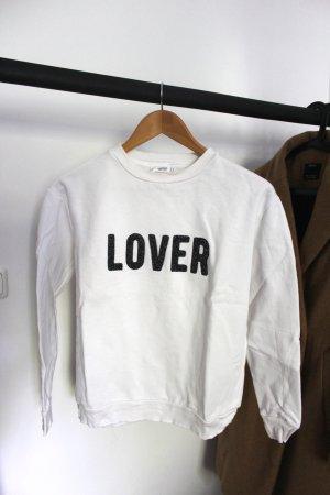 Weißes Sweatshirt Mango