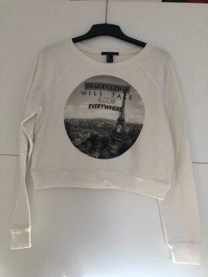 Weißes Sweatshirt mit grauem Aufdruck