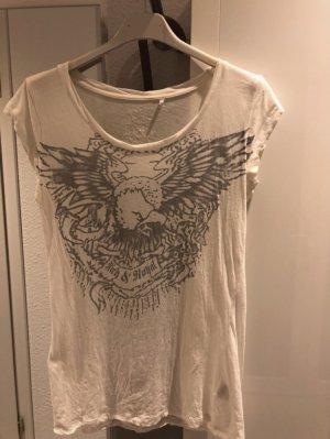 Weißes T-Shirt mit Adlerprint