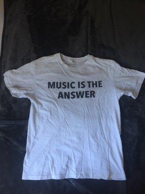 weißes t shirt mit aufdruck